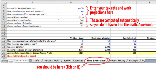 Pricing Guide Tax and Work projections