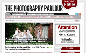 The photography parlour website screenshot