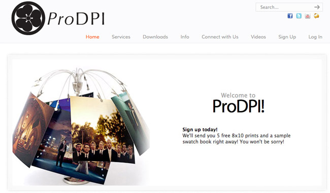 ProDPI Welcome Page