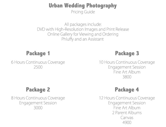 wedding photography packages pricing guide