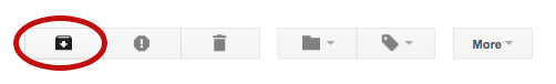 gmail archive button