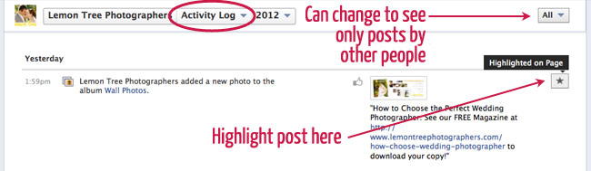 facebook activity log secrets
