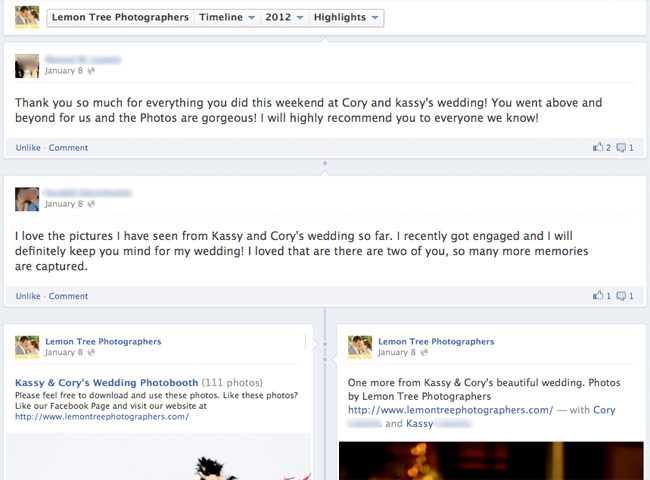 make recommendations big on facebook pages
