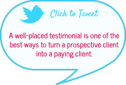 use testimonials to get business