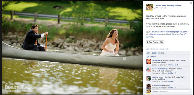 Madison Wedding Photographers Facebook Post