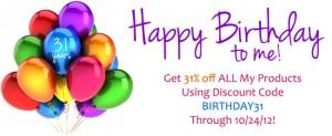 Happy Birthday To Me Sale!