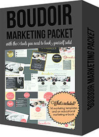 Boudie Shorts Boudoir Marketing Packet for Photographers