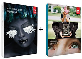 Lightroom 4 and Photoshop Elements 11 on Sale