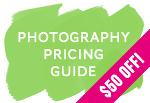 Photography Pricing Guide Sale