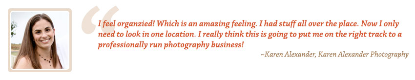 Photography Accounting Testimonial by Karen Alexander