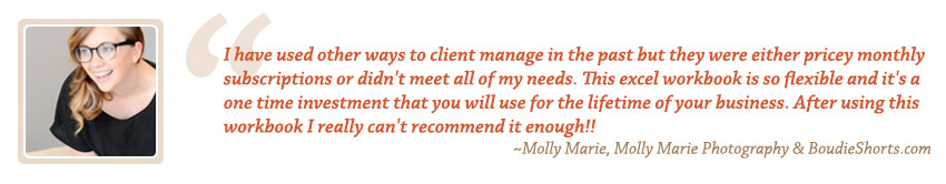 Photography Accounting Testimonial by Molly Marie