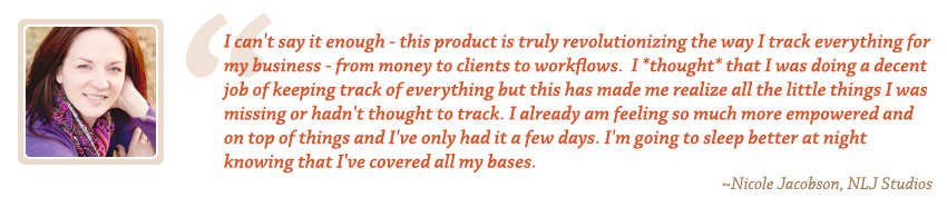 Photography Accounting Testimonial by Nicole Jacobson