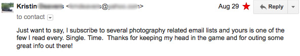 photography marketing tips email testimonial