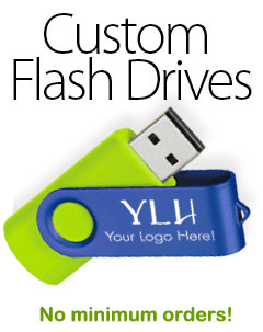 Custom Flash Drives with no minimum orders
