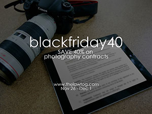 law tog photography contracts black friday sale 2014