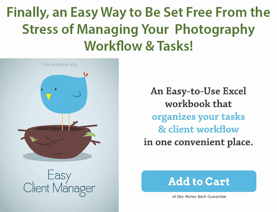 photography workflow and client manager