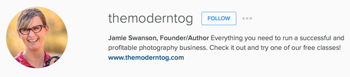 the modern tog instagram