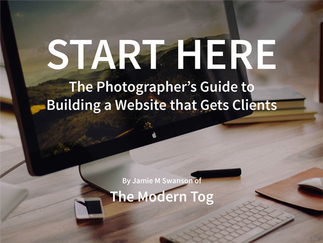 Pro photography website creation ebook by The Modern Tog