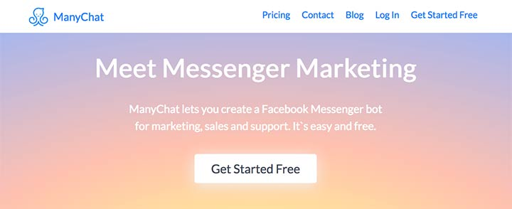 ManyChat is the best messenger bot service out there